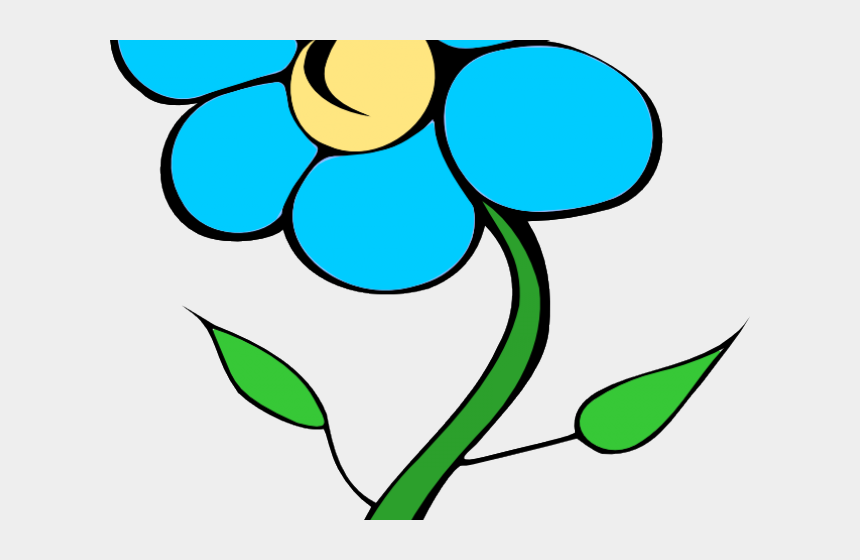 single flower clipart, Cartoons - Sunflower Cartoon Cliparts - Flower With Stem Clip Art