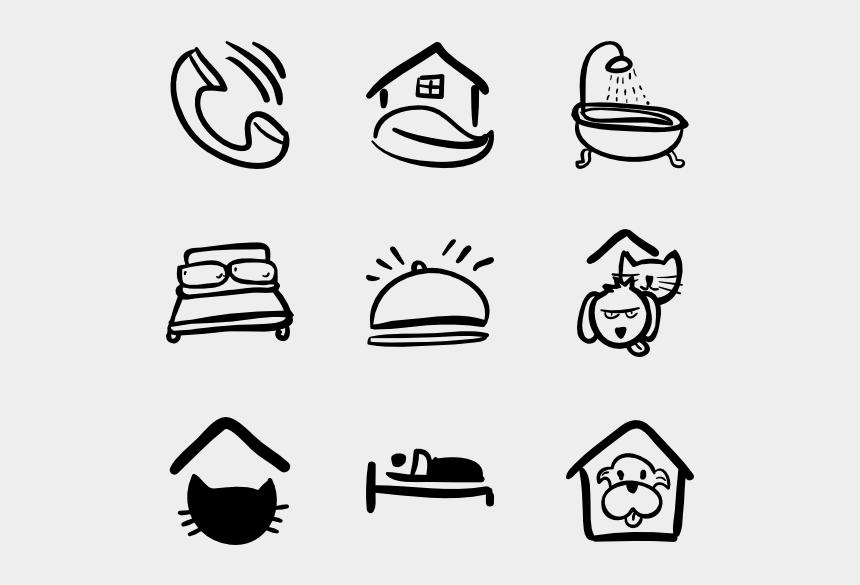 free hand drawn clipart, Cartoons - Hand Drawn Hotel - Hand Drawn Travel Icons