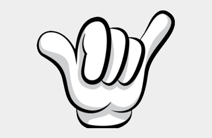 mickey mouse hands clipart, Cartoons - Hang Loose Hand Sign