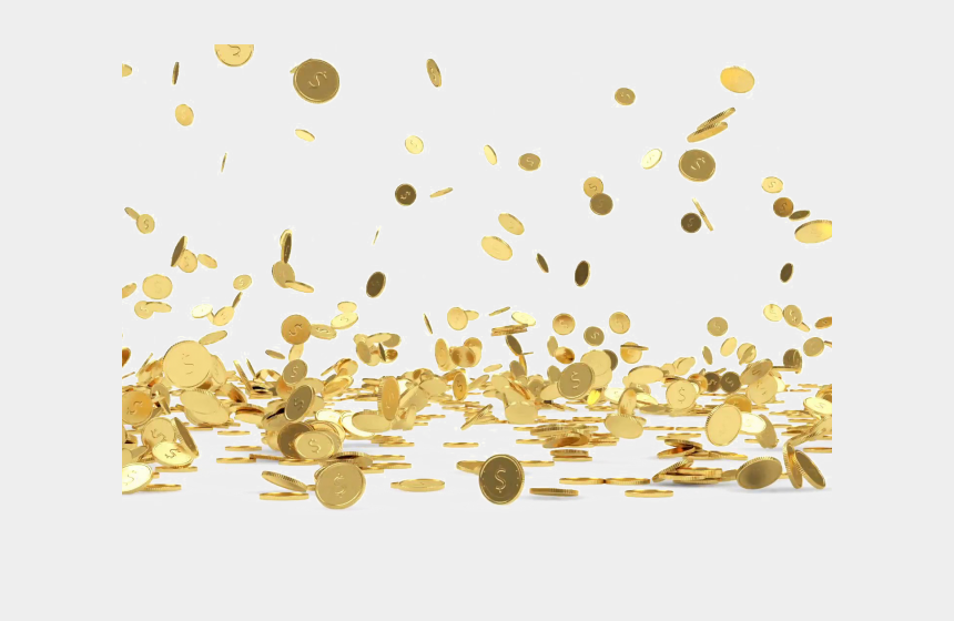 falling money clipart, Cartoons - Coins Clipart Falling - Gold Coins Falling Png