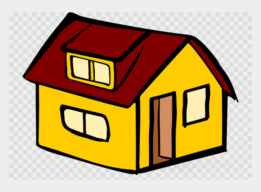 yellow house clipart, Cartoons - House, Drawing, Graphics, Transparent Png Image Clipart - Transparent Cartoon Soccer Ball