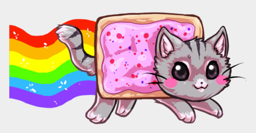 pink cat clipart, Cartoons - #nyan #cat #kawaii #bread #cute #pink - Nyan Cat Kawaii Png