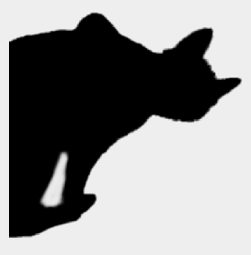 cat jumping clipart, Cartoons - #blackcat #halloween #silhouette #cat - Black Cat