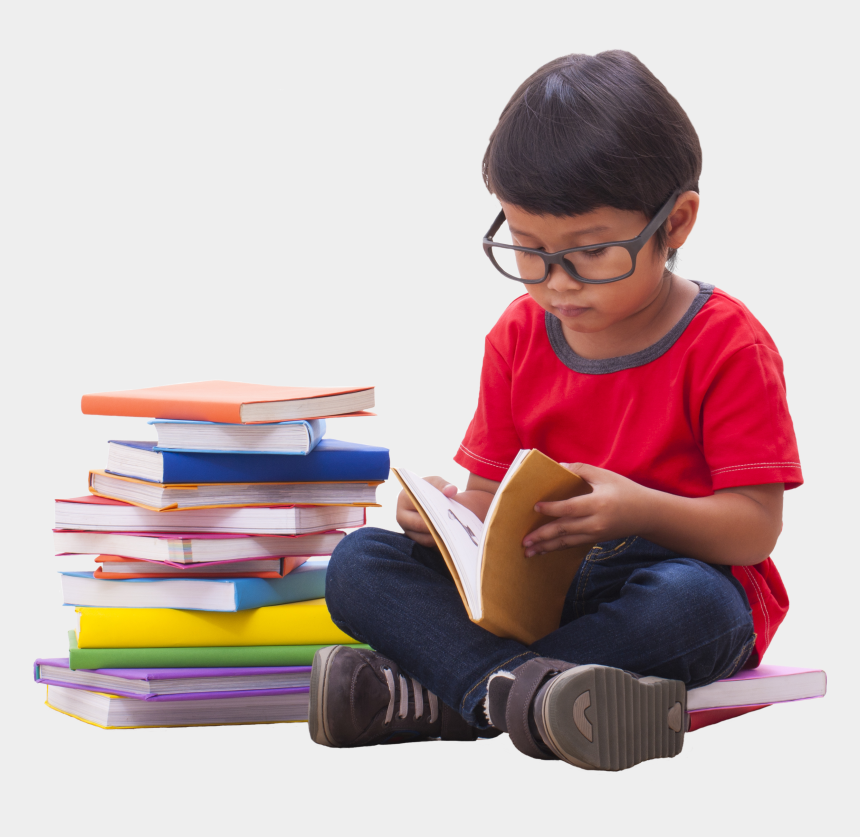 person reading book clipart, Cartoons - Reading Transparent Png - Child Reading Png
