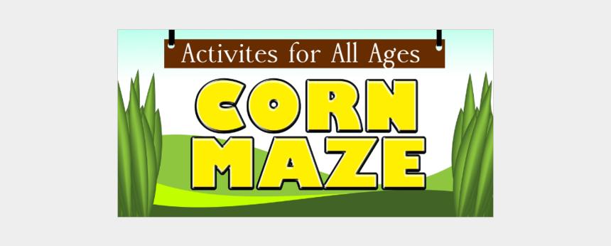 corn maze clipart, Cartoons - Blank Corn Maze Vinyl Banner - Graphic Design