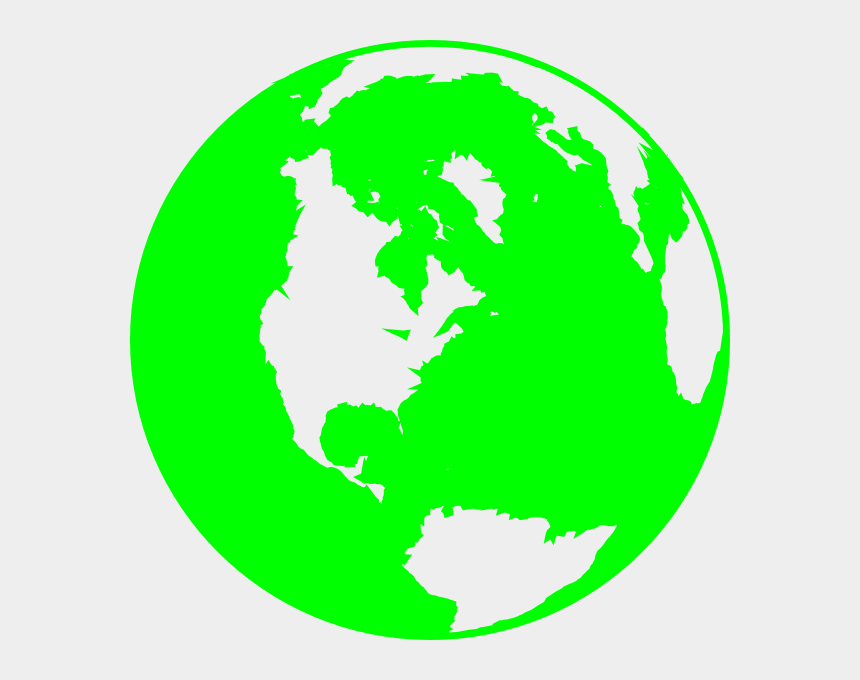 green earth clipart, Cartoons - Green And White Globe