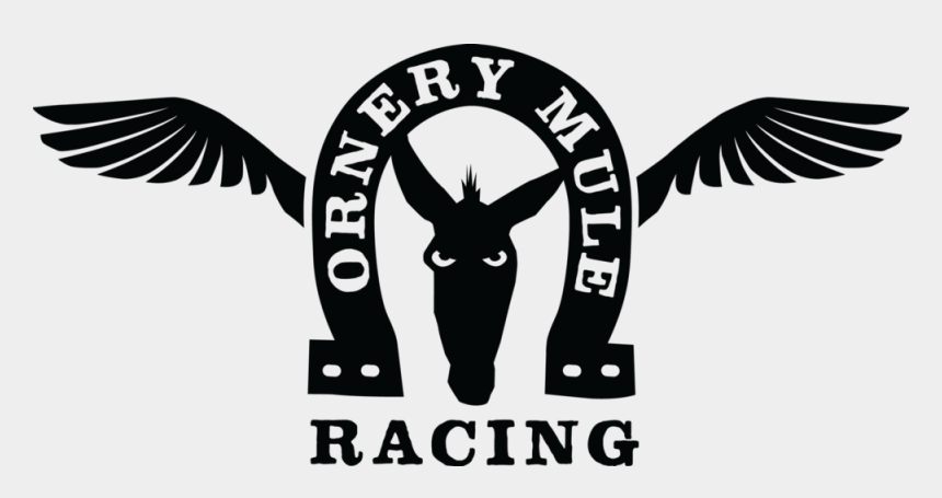 earth day clipart black and white, Cartoons - Ornery Mule Racing Black