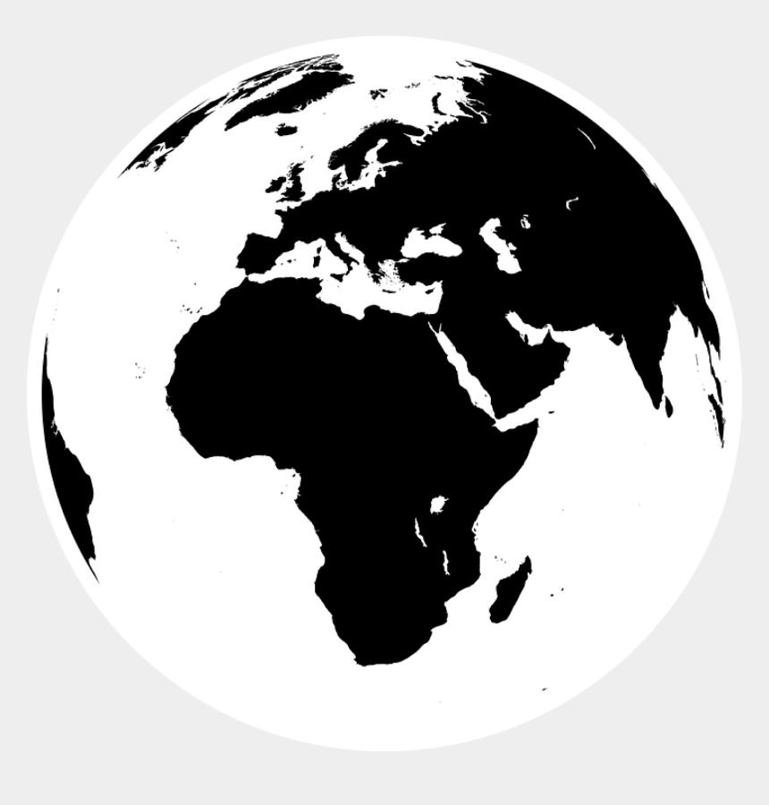 world globe clipart black and white, Cartoons - Black And White Earth Png - World Globe Black And White