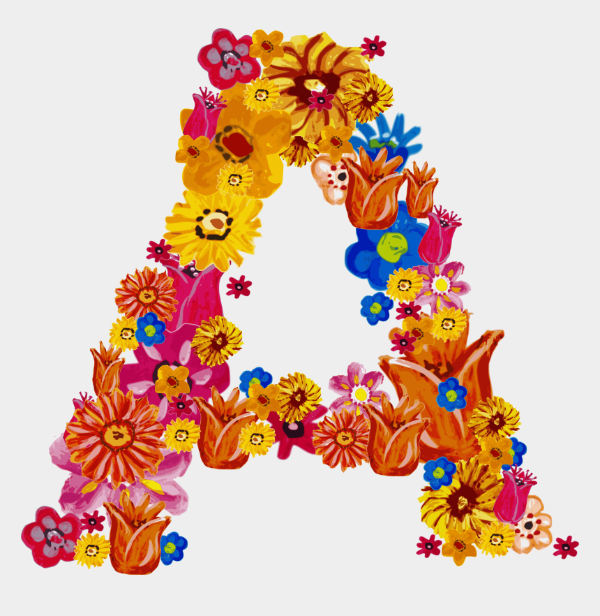 clipart fonts free download, Cartoons - Alphabet Png Images - Font Flower