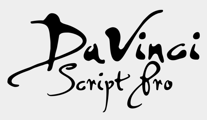 clipart fonts free download, Cartoons - Davinci Script Pro - Da Vinci Font