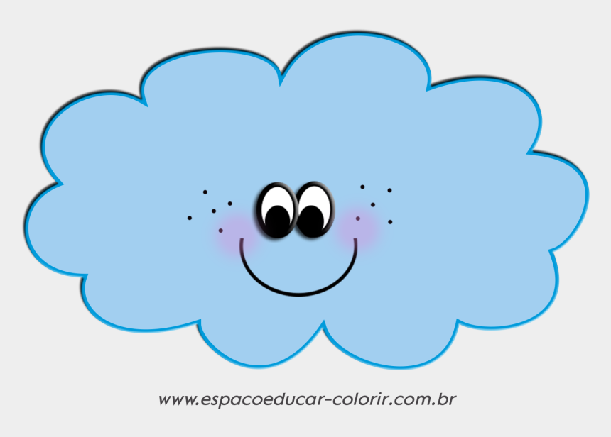 cliparts gratis para baixar, Cartoons - Ilustrações Ou Cliparts De Nuvens Lindas E Fofas Grátis - Nuvem Desenho Com Carinha Png