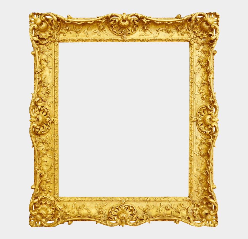 digital frame clipart, Cartoons - Photography, Digital Photo Frame - Gold Vintage Frame Png