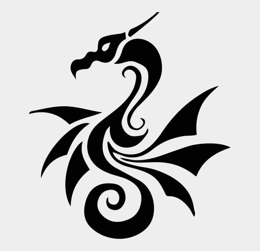 Tattoo Chinese Dragon Japanese Dragon Stencil - Tribal