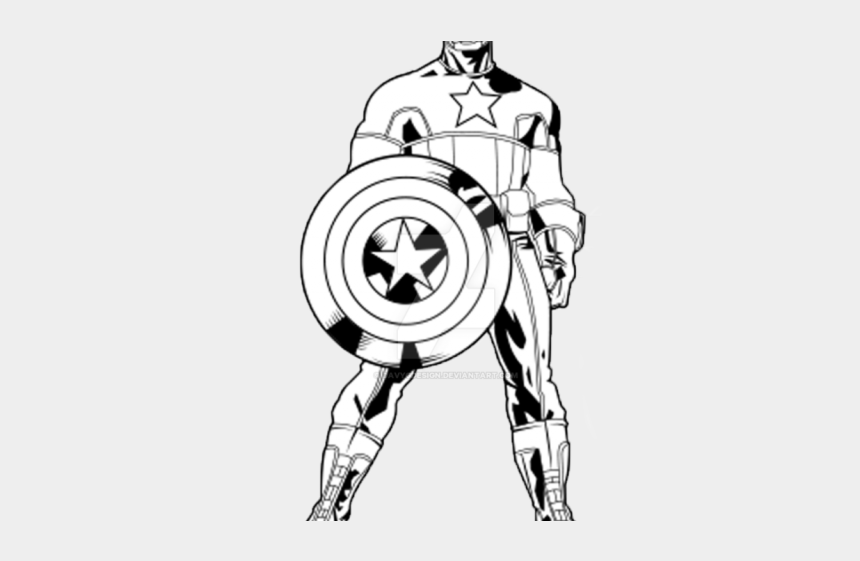 clipart to draw, Cartoons - Captain America Clipart Draw In Color - Captain America Drawing Outline