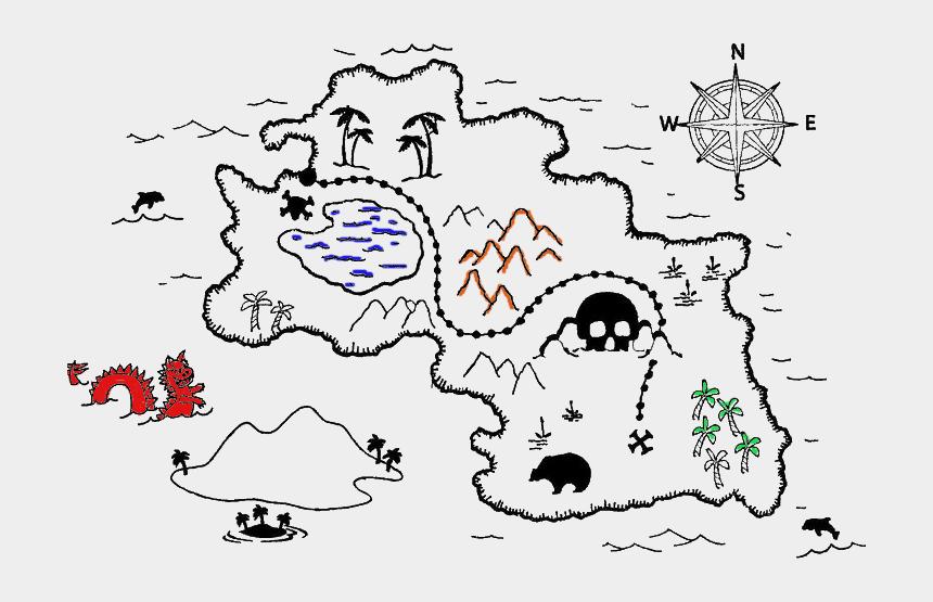 clipart kindergeburtstag, Cartoons - Schatzkarte Schatzsuche Kindergeburtstag Schnitzeljagd - Pirate Map Coloring Sheets