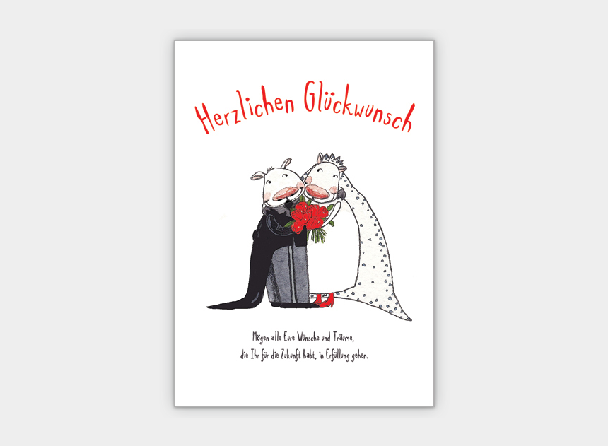 Glueckwunsch Zur Hochzeit Hochzeitskarte Lustig