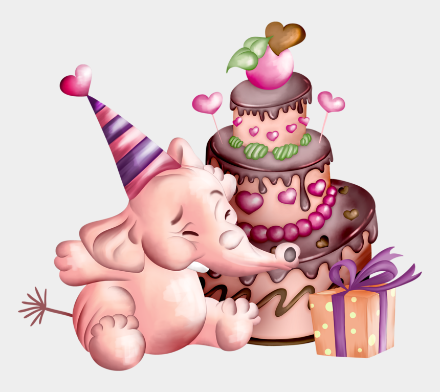 clipart geburtstagsgrüße, Cartoons - Фото, Автор Alponom84 На Яндекс - Elephant Birthday Png