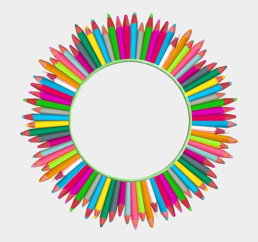 kostenlose cliparts schule, Cartoons - Kostenlose Druckvorlagen - Color Pencils In A Circle Png