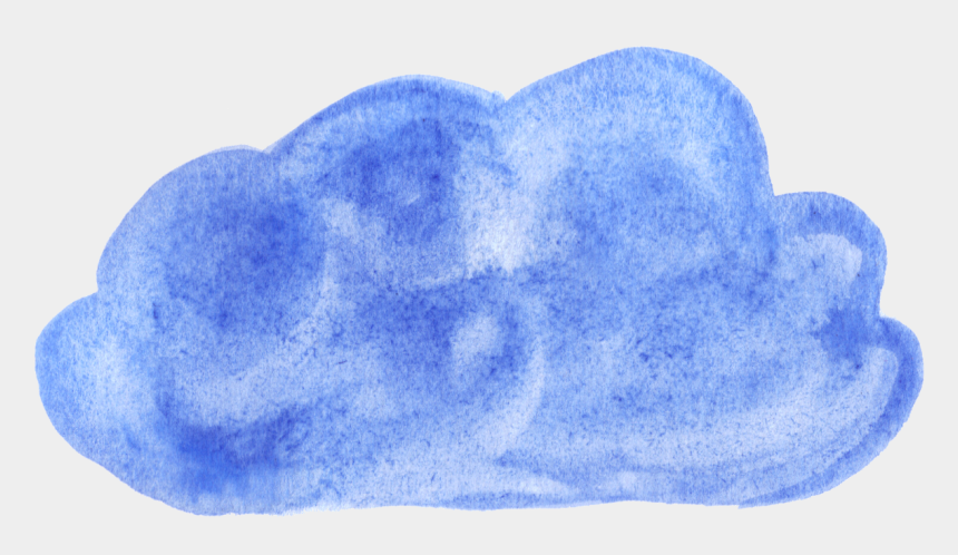 dark clouds clipart, Cartoons - Dark Blue Clipart Coloured Cloud - Watercolor Paint