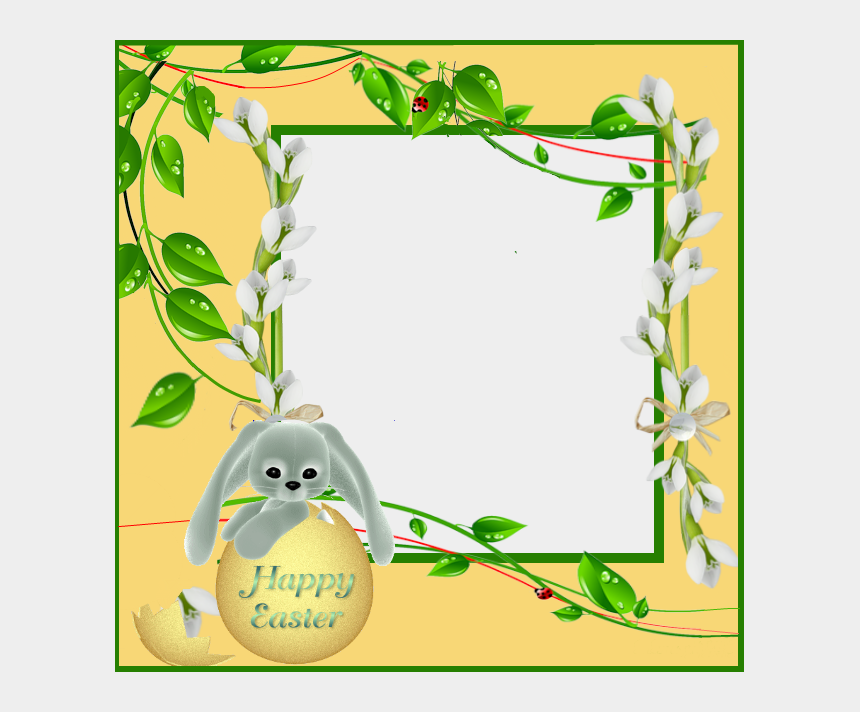 food frame clipart, Cartoons - Frame Clipart, High Quality Images, Frame Gallery, - Happy Easter Photo Frame Png