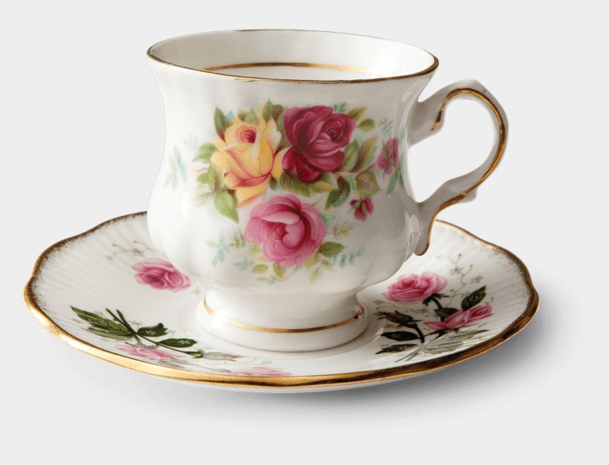 """vintage teacup clipart, Cartoons - """"my Name Is Old Vintage Rosie, I Was Stuck In A Cabinet - Cup"""