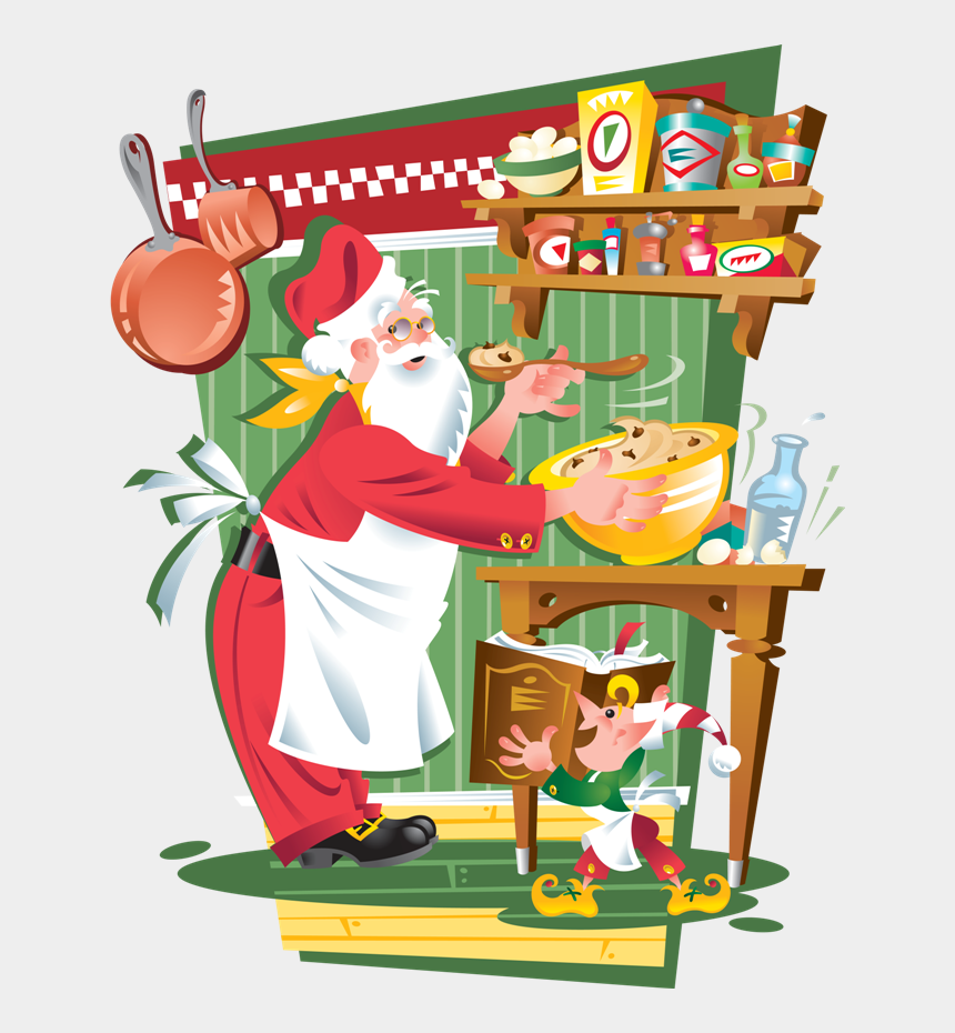 Natale In Cucina.Babbo Natale Che Cucina Babbo Natale Che Mangia Cliparts Cartoons Jing Fm
