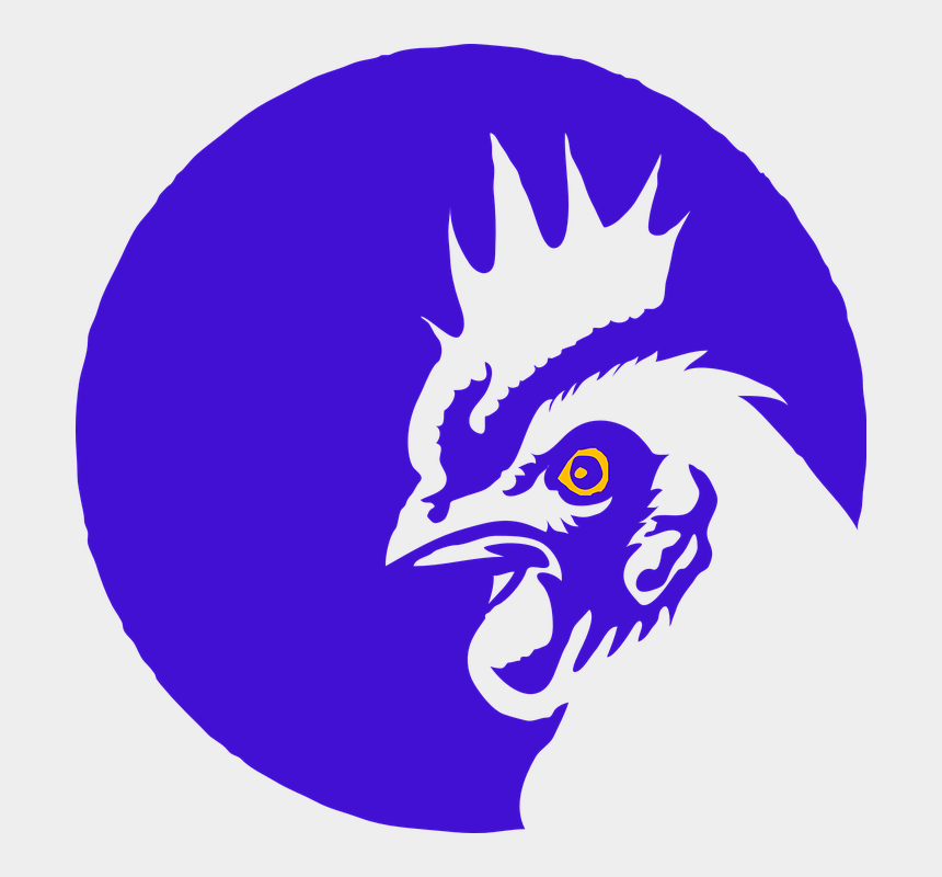 chicken farm clipart, Cartoons - Rooster Cock Chicken Farm Animal Blue - Transparent Logo Of Rooster