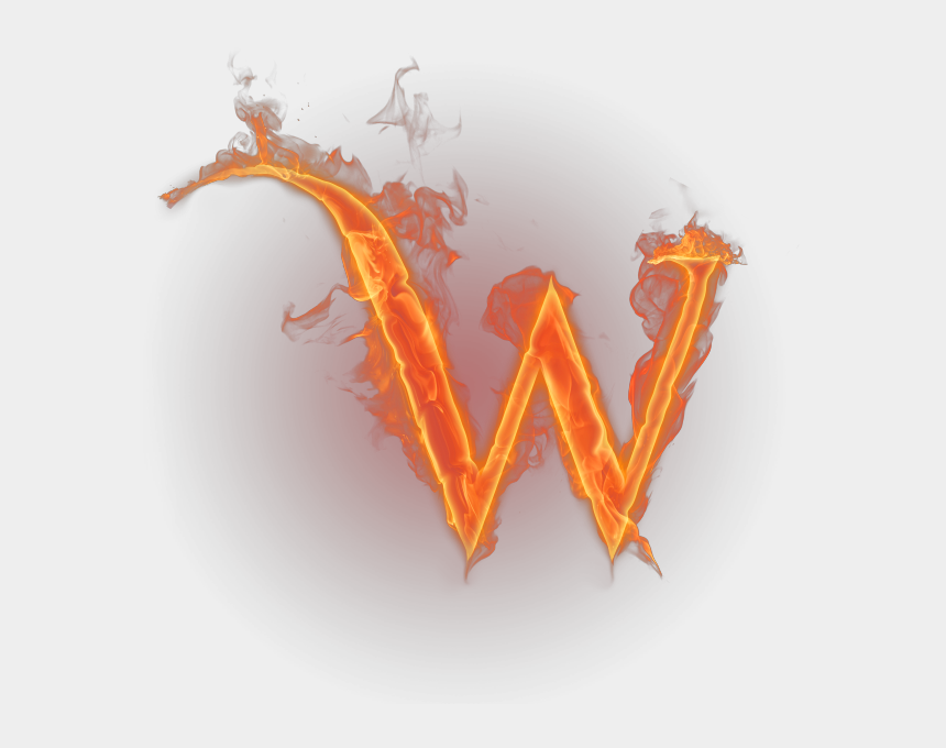 fire clipart transparent, Cartoons - W Transparent Fire - Letter