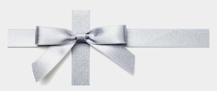 white ribbon clipart, Cartoons - White Ribbon Png - White Gift Ribbon Transparent