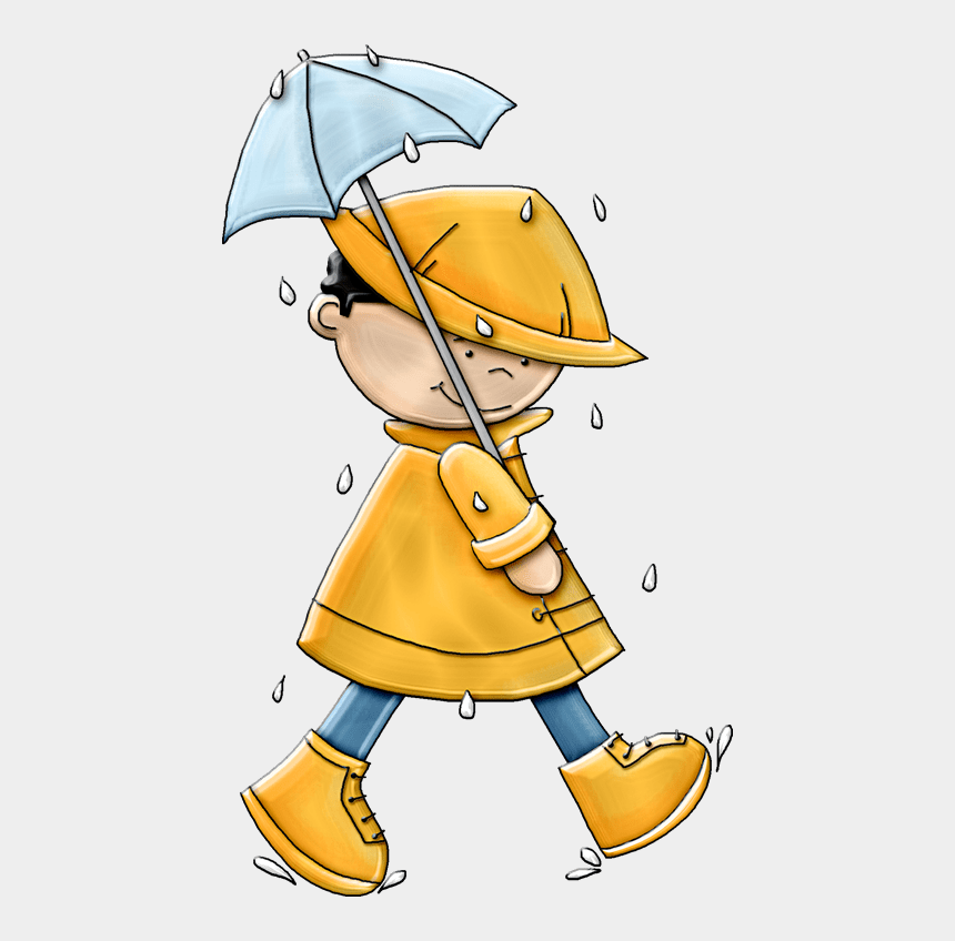 wet weather clipart, Cartoons - Planning Your Reunion In Stormy Family Helper Ⓒ - Boy With Umbrella In Rain
