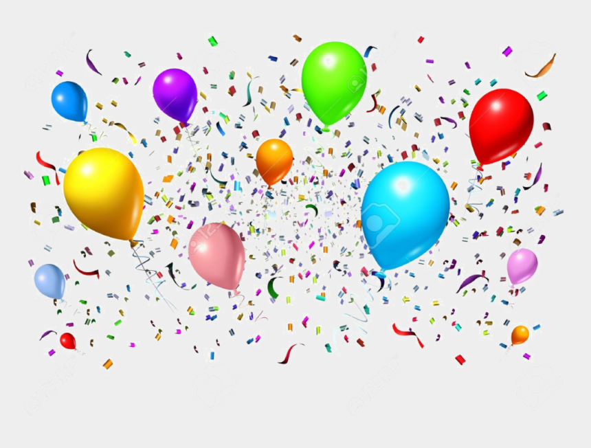 celebrate clipart, Cartoons - Celebration Free Png Image - Party Balloons And Streamers