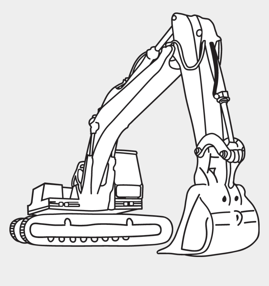 Excavator Clipart Black And White Construction Coloring Pages Cliparts Cartoons Jing Fm