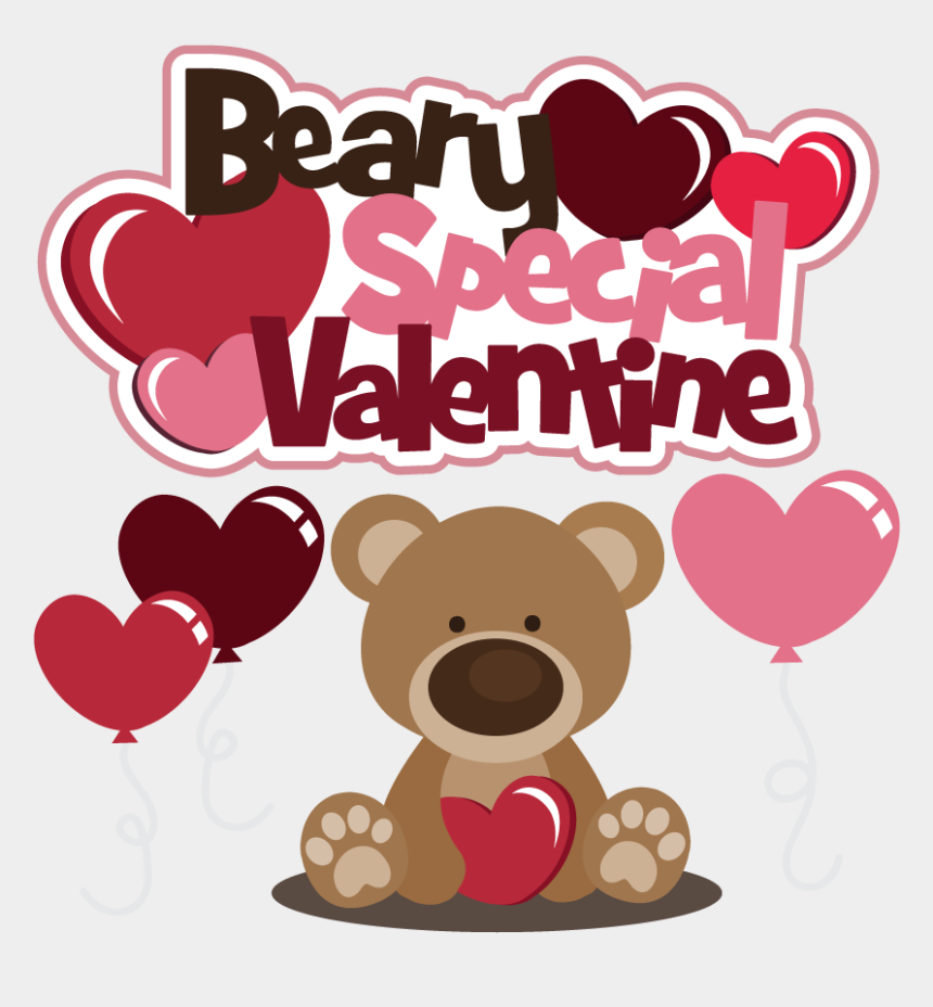 valentine's day clipart, Cartoons - Valentine's Day Svg Files - Teddy Bear Valentines Day Clipart
