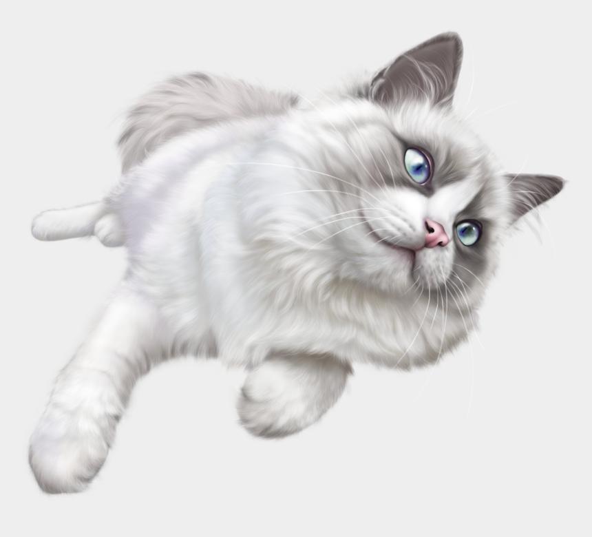 cats clipart, Cartoons - White Cat Png Clip Art - White Cat Transparent Background
