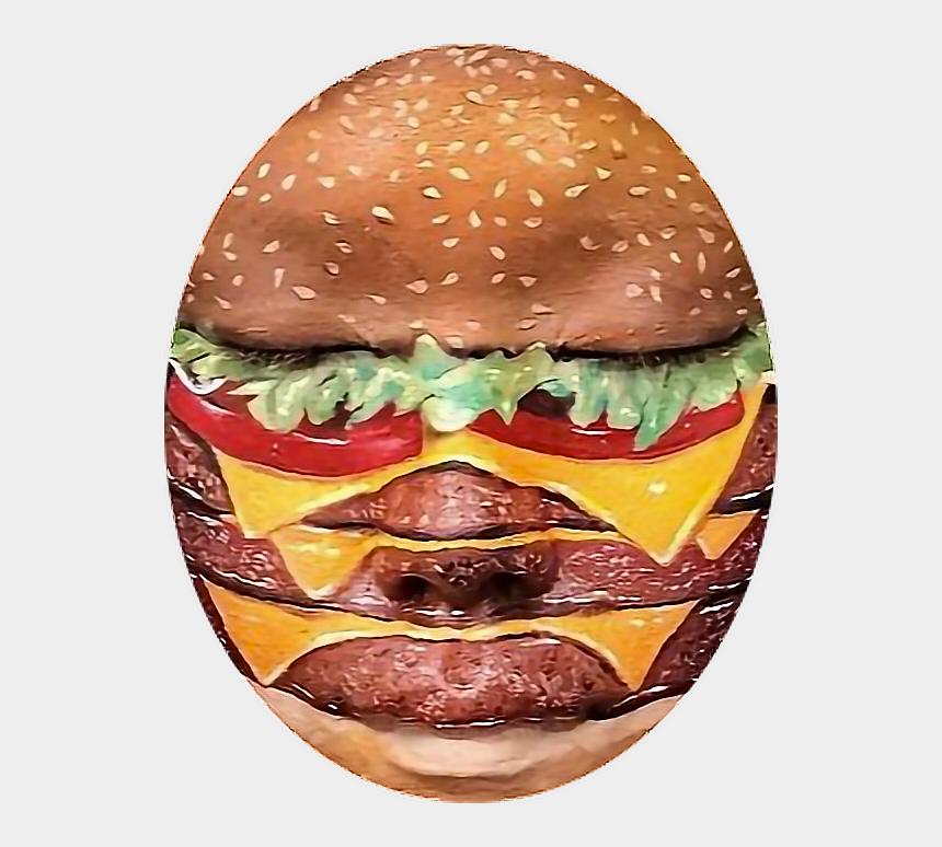 burger clipart, Cartoons - Clipart Face Burger - Food Make Up Face