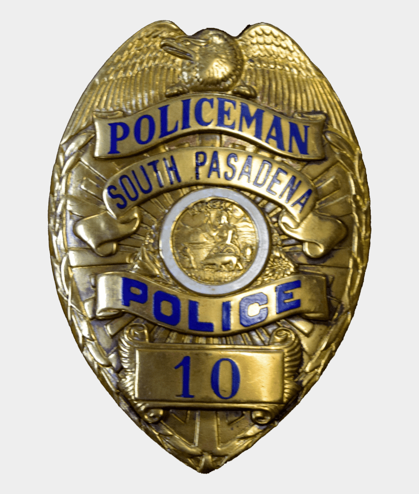 police badge clipart, Cartoons - Download South Pasadena Police Badge Transparent Png - Police Badge Transparent Background