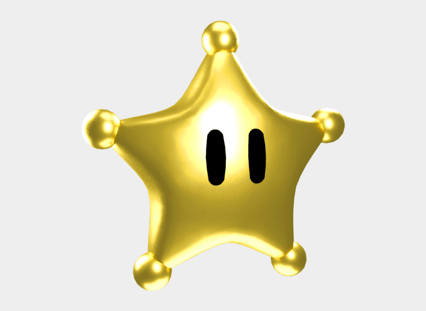 gold star clipart, Cartoons - Mario Clipart Gold Star - Super Mario Galaxy Star