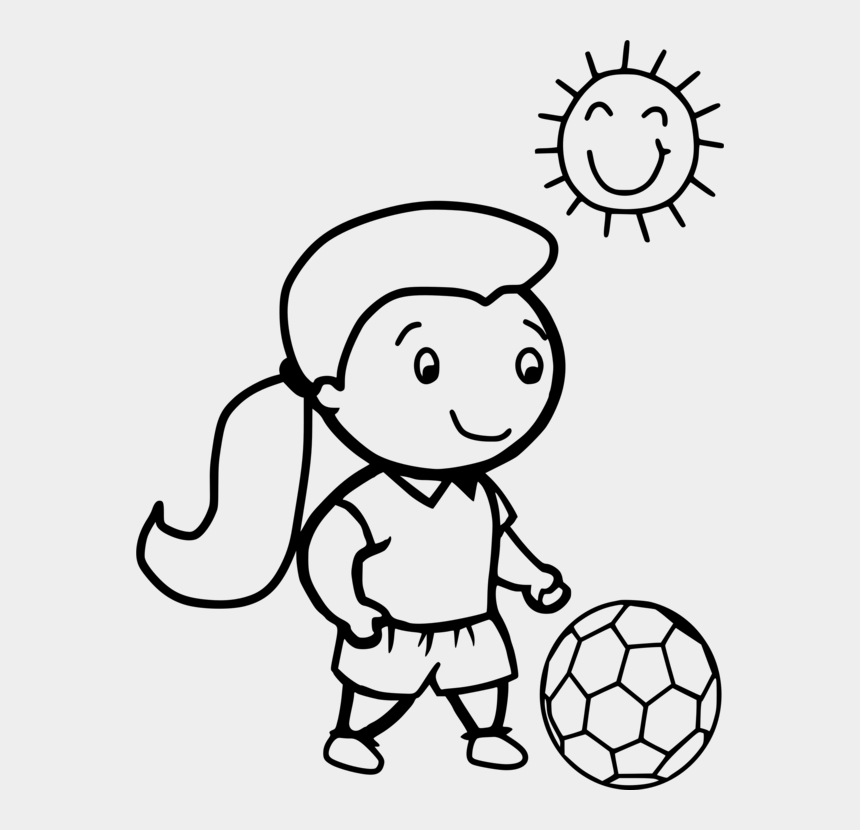 Color Clipart Football Player Girl Soccer Coloring Page
