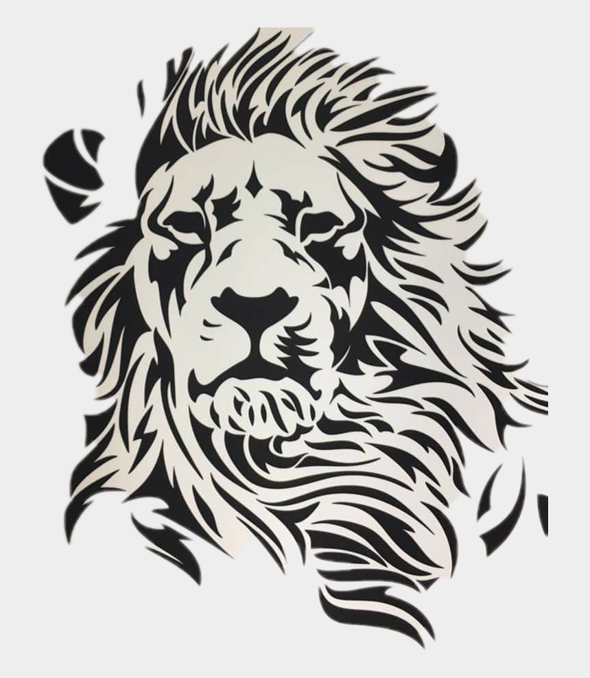 lion clipart black and white, Cartoons - #lion Sticker - Black And White Lion Drawing