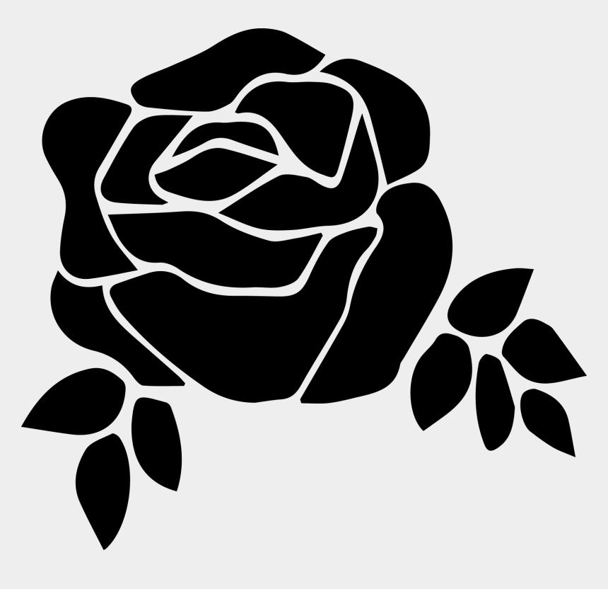 flower clipart black and white, Cartoons - Flower Clip Art Black And White Free