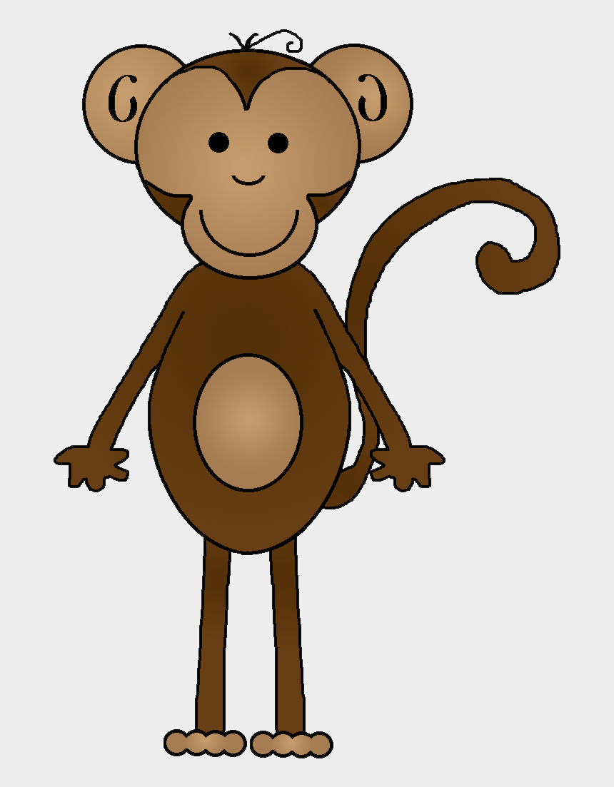 Hanging Monkey - Chimpanzee Clipart Black And White, Transparent Png -  290x458 (#7101461) PNG Image - PngJoy