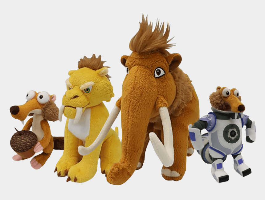 ice age clipart, Cartoons - Diego, Sid, Manny And Scrat The Hilarious Animated - Stuffed Toy