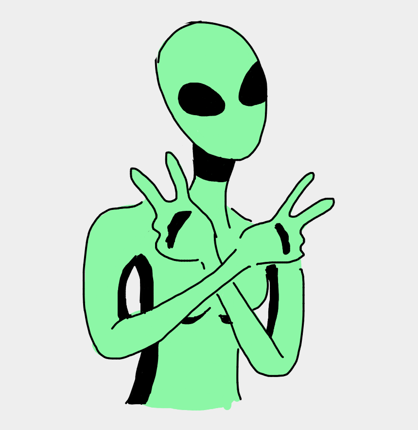 green alien clipart, Cartoons - #green #alien #art #draw #peace #peacefull #alienplanet - Cartoon