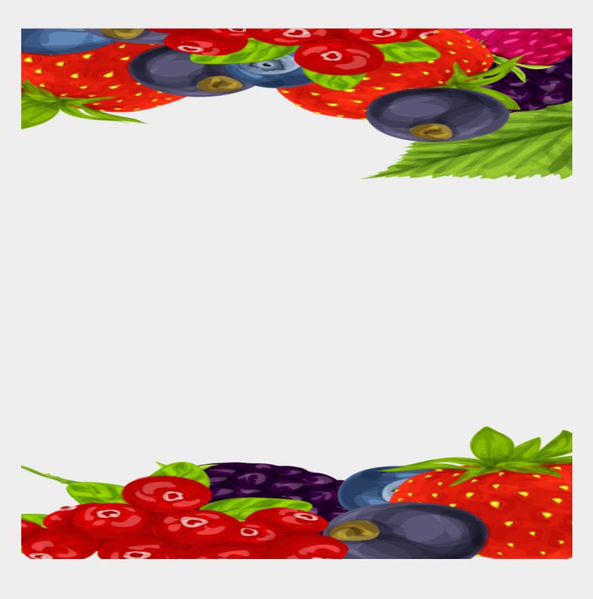 strawberry border clipart, Cartoons - #mq #fruits #fruit #berry #border #borders - กรอบ รูป เบ อ รี่