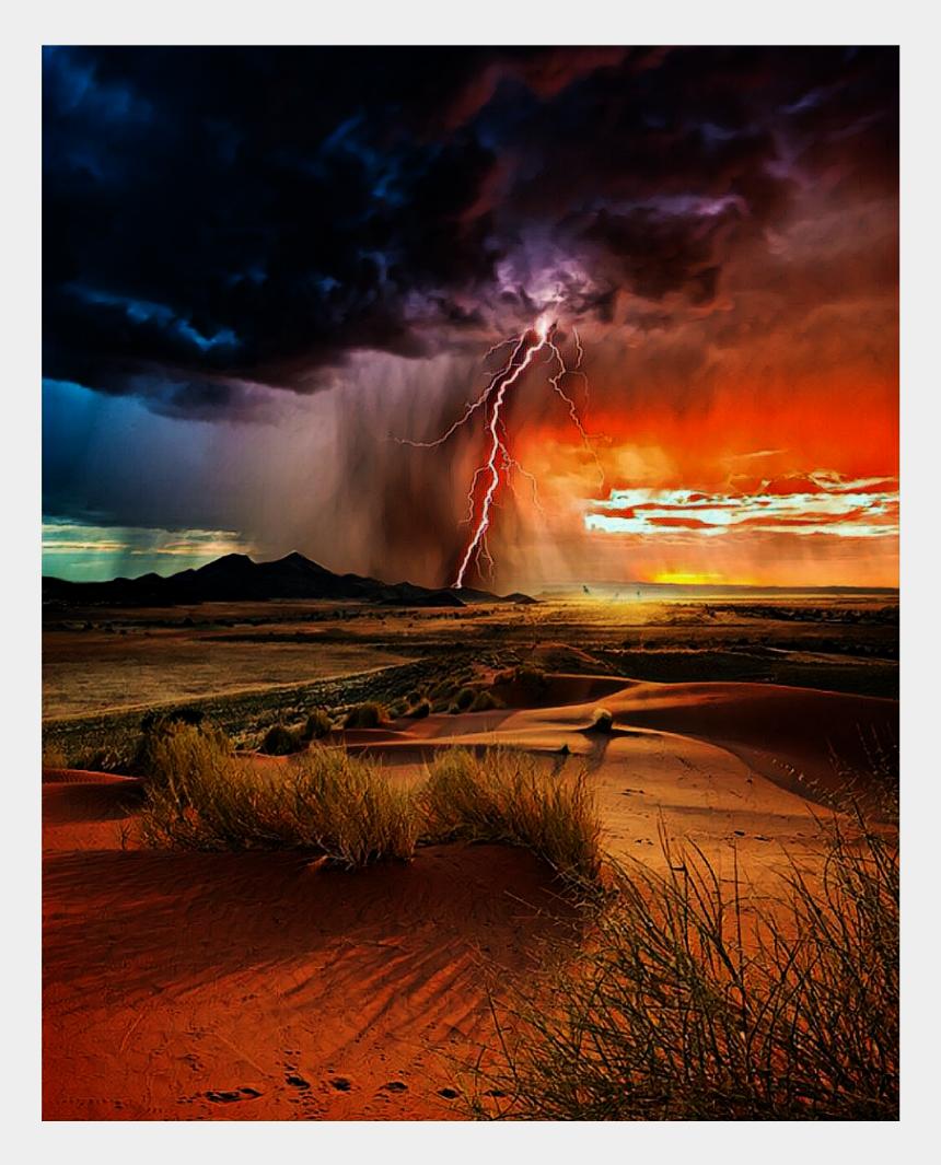 lightning storm clipart, Cartoons - #background #lightning #storm - Grass