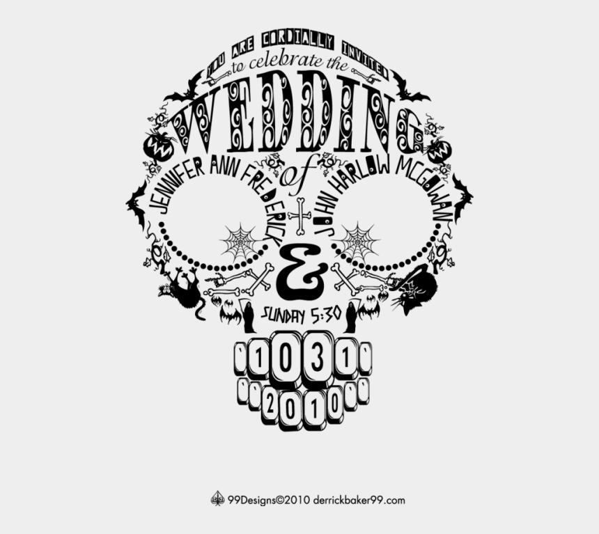 halloween wedding clipart, Cartoons - Skull Wedding Invitation More - Wedding Skull Clipart