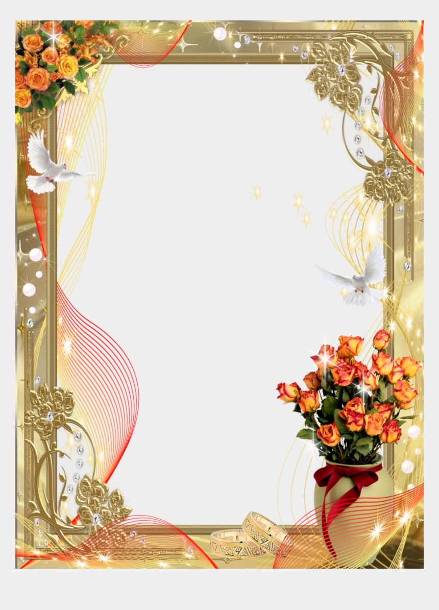 wedding frame clipart, Cartoons - Wedding Frame Png Clipart Picture Frames Wedding - Wedding Photo Frame Png