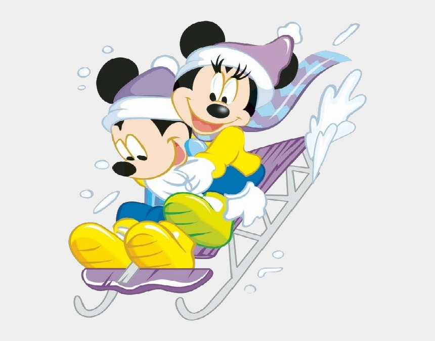 disney winter clipart, Cartoons - Christmas - Disney - Mickey &amp - Minnie Mouse Christmas - Winter Mickey And Minnie