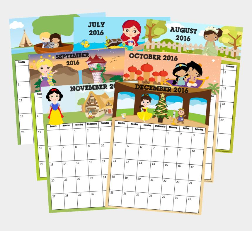 free printable disney princess clipart, Cartoons - 2016 Calendar - Calendar December 2017 Disney