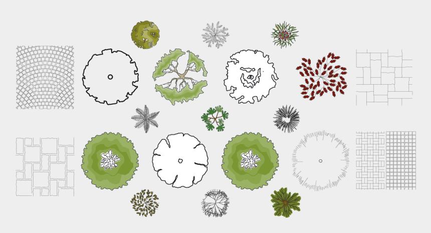 garden design clipart, Cartoons - Design Drawings Symbols Garden Inspiration Free For - Landscape Architecture Drawing Symbols